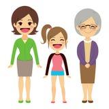 Três mulheres da geração ilustração do vetor
