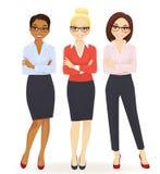 Três mulheres de negócio elegantes ilustração royalty free