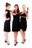 Três mulheres enegrecem armas de fogo imagem de stock