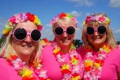 Três mulheres na raça para o evento da caridade da vida Foto de Stock