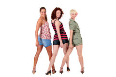 Três mulheres novas atrativas fotos de stock royalty free
