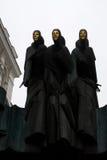 Três musas de Vilnius foto de stock royalty free