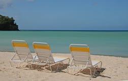 Três na praia Fotografia de Stock Royalty Free