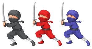 Três ninjas ilustração stock