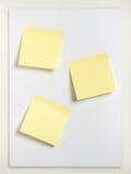 Três notas pegajosas Imagens de Stock Royalty Free