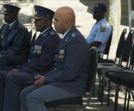 Três oficiais altos do sul - serviços policiais africanos Fotografia de Stock Royalty Free
