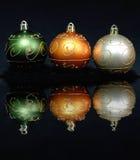 Três ornamento do Natal imagens de stock royalty free