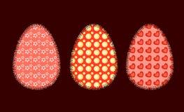 Três ovos da páscoa 2 Foto de Stock