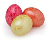 Três ovos da páscoa isolados no branco Fotografia de Stock Royalty Free