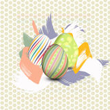 Ovos da páscoa pintados ilustração do vetor