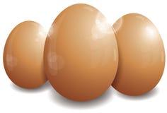 Três ovos de Easter Fotos de Stock
