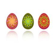 Três ovos ornamentado Foto de Stock Royalty Free