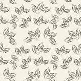 A Três-pétala faz crochê o teste padrão de flor, ilustração Fotos de Stock