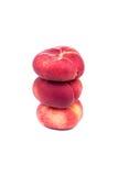 Três pêssegos lisos Imagem de Stock Royalty Free