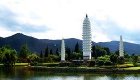 Três Pagodas Foto de Stock Royalty Free