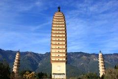 Três pagodes Fotografia de Stock Royalty Free
