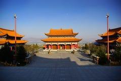Três pagodes budistas na cidade velha de Dali, província de Yunnan, China Foto de Stock
