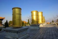 Três pagodes budistas na cidade velha de Dali, província de Yunnan, China Fotografia de Stock Royalty Free