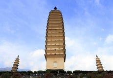 Três pagodes de Dali City, porcelana Imagens de Stock Royalty Free