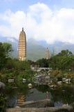 Três pagodes de Dali City, porcelana Fotografia de Stock