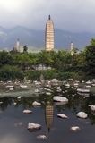 Três pagodes de Dali, Zhonghe, Yunnan Fotos de Stock Royalty Free
