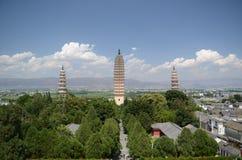 Três pagodes em Dali Imagem de Stock Royalty Free