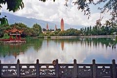 Três pagodes famosos em Dali Fotografia de Stock