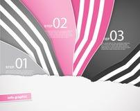 Três papéis coloridos com lugar para seu próprio texto Fotos de Stock Royalty Free