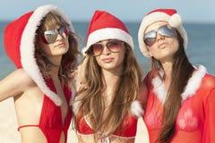 Três Papai Noel Imagens de Stock