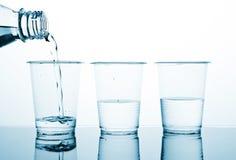 Três parcelas de água Foto de Stock Royalty Free