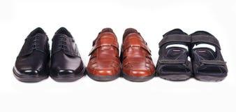 Três pares de sapatos Imagem de Stock