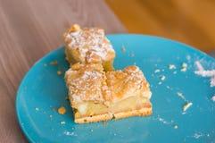 Três partes da torta de maçã Imagens de Stock Royalty Free