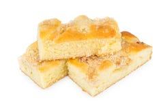 Três partes de torta de maçã Fotos de Stock