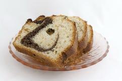 Três partes do bolo apetitoso Foto de Stock