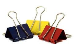 Três pastas da cor Fotos de Stock Royalty Free