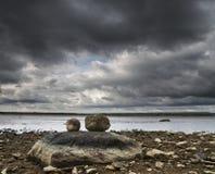 Três pedras Fotografia de Stock