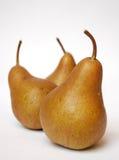 Três peras Foto de Stock