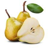 Três peras maduras foto de stock