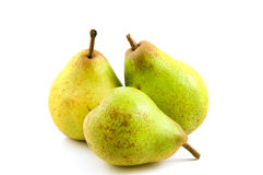 Três peras saudáveis frescas fotos de stock royalty free