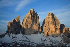 Três picos Fotos de Stock Royalty Free