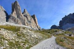 Três picos de Lavaredo Imagens de Stock Royalty Free