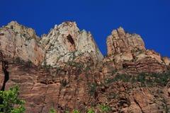 Três picos em Zion Fotografia de Stock Royalty Free