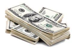 Pilha de 100 contas de US$ Foto de Stock
