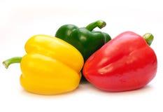 Três pimentas Foto de Stock