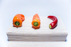 Três pimentas imagem de stock