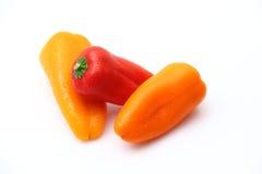 Três pimentas Fotografia de Stock Royalty Free