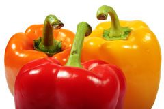 Três pimentas Foto de Stock Royalty Free