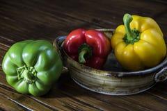 Três pimentas de Bell Imagem de Stock Royalty Free