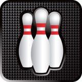 Três pinos de bowling Fotos de Stock