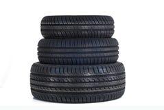 Três pneus novos do verão Fotografia de Stock Royalty Free